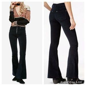 Free People Soma Velvet Corduroy Flared Pants